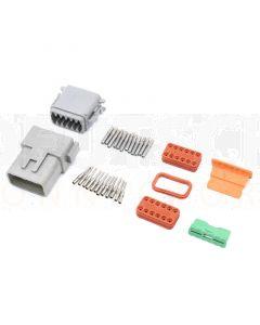 Deutsch DT12-3 12 Way Connector Kit with Nickel Contacts