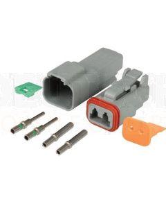 Deutsch DT2-3 2 Way Connector Kit with Nickel Contacts