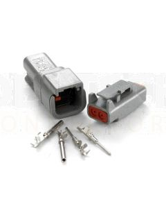 Deutsch DTM Series 2 Way Connector Kit with F Crimp Contacts