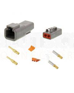 Deutsch DTP Series 2 Pole Connector Kit - Gold Contacts