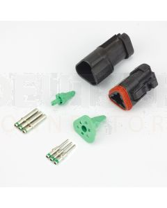Deutsch DT3-1-CAT 3 Way DT Series CAT Spec Connector Kit with Green Band Contacts