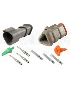 Deutsch DT3-1-E008 3 Way Connector Kit with Shrink Boot Adapter Modification