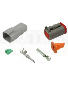 Deutsch DT Series 4 Way Connector Kit with F Crimp Contacts