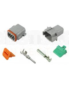 Deutsch DT Series 8 Way Connector Kit with F Crimp Contacts
