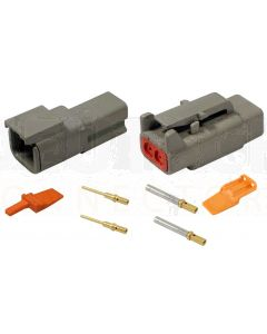 Deutsch DTM Series 2 Way Connector Kit with Gold Contacts